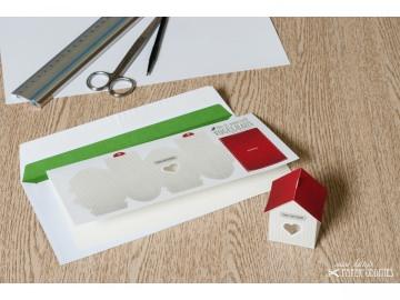 Grußkarte »Vogelhaus« mit heraustrennbarem Bastelbogen — 02.sand - Handarbeit kaufen
