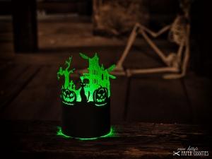 Windlicht-Bastelbogen »Halloween« zum Beleuchten mit einem (LED)-Teelicht