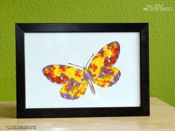 DIY-Wachs-Bügelbild »Schmetterling No. 5« - Handarbeit kaufen