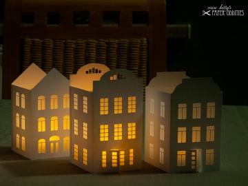 Windlicht-Bastelset »Lichterstadt I« zum Beleuchten mit (LED)-Teelichtern - Handarbeit kaufen