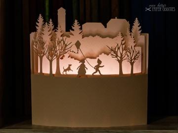Windlicht-Bastelbogen »Marienturm« zum Beleuchten mit einem (LED)-Teelicht - Handarbeit kaufen