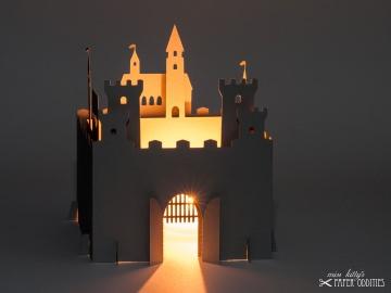 Bastelset Windlicht »Ritterburg« zum Beleuchten mit (LED)-Teelicht oder Votivkerze - Handarbeit kaufen