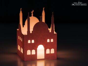 Windlicht-Bastelset »Moschee« — 02.chamois, zum Beleuchten mit einem (LED)-Teelicht - Handarbeit kaufen
