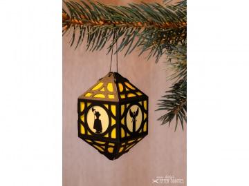Weihnachtliche Papierlaterne — 02.gelb - Handarbeit kaufen