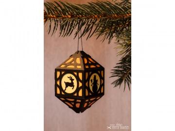 Weihnachtliche Papierlaterne — 03.orange - Handarbeit kaufen