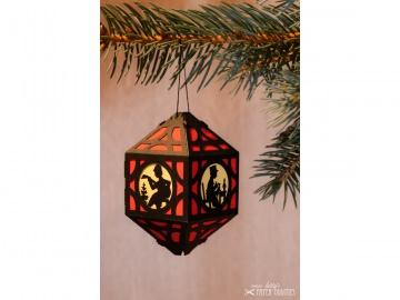 Weihnachtliche Papierlaterne — 04.rot - Handarbeit kaufen