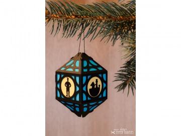 Weihnachtliche Papierlaterne — 05.hellblau - Handarbeit kaufen