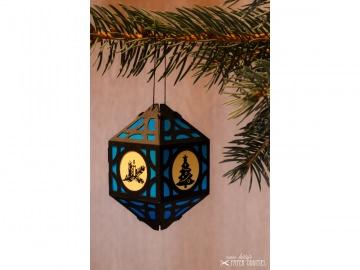 Weihnachtliche Papierlaterne — 06.dunkelblau - Handarbeit kaufen