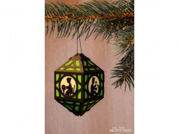 Weihnachtliche Papierlaterne — 07.hellgrün - Handarbeit kaufen