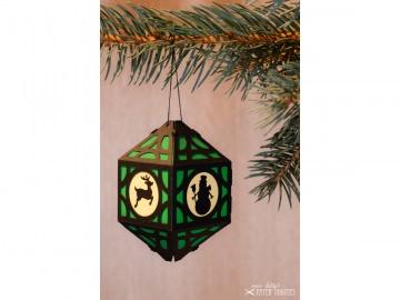 Weihnachtliche Papierlaterne — 08.dunkelgrün - Handarbeit kaufen