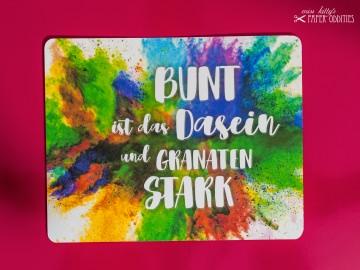 Postkarte »Bunt ist das Dasein und granatenstark«, gefüllt mit Sommerblumensamen