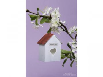Bastelbogen »Vogelhaus« — 01.schmutzigweiß - Handarbeit kaufen