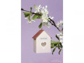 Bastelbogen »Vogelhaus« — 06.rosé - Handarbeit kaufen