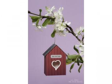 Bastelbogen »Vogelhaus« — 15.pink - Handarbeit kaufen