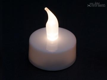 LED-Teelicht mit heller weißer Flamme, flackert nicht
