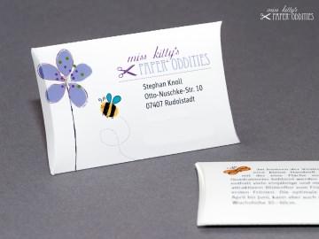 Visitenkarten mit Blumensamenfüllung, individuell gestaltet nach Deinen Vorgaben
