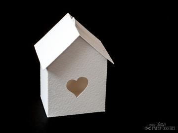 Bastelbogen »Vogelhaus« — weiß, zum selbst bemalen - Handarbeit kaufen