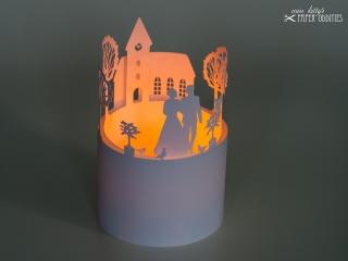Bastelbogen Windlicht »Hochzeit« 2-tlg. zur Beleuchtung mit einem (LED-) Teelicht