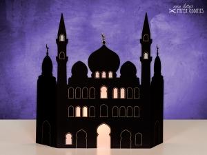Ramadan-Kalender »Moschee«, zum Beleuchten mit einem (LED)-Teelicht oder einer Kerze