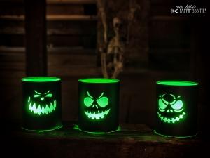 Windlicht-Bastelbogen-Set »Jack O'Lantern schwarz« zum Beleuchten mit (LED)-Teelichtern - Handarbeit kaufen