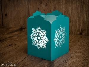Windlicht-Bastelset »Orientalische Laterne« (türkis), zum Beleuchten mit (LED)-Teelicht oder Kerze - Handarbeit kaufen