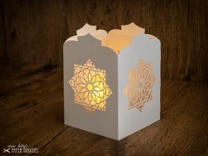 Windlicht-Bastelset »Orientalische Laterne« (perlweiß), zum Beleuchten mit (LED)-Teelicht oder Kerze - Handarbeit kaufen