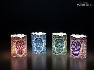 Windlicht-Set »Día de los Muertos« (farbig) zum Basteln und  Beleuchten mit (LED)-Teelichtern - Handarbeit kaufen