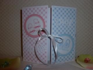 Glückwunschkarte Zwillinge zur Geburt oder Taufe