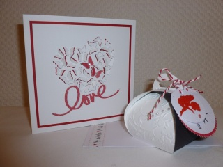 Hochzeit - Geschenk-Set LOVE - Geldgeschenkschachtel & Glückwunschkarte