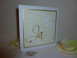 Hochzeit - Glückwunschkarte ganz edel und dezent - Handarbeit kaufen