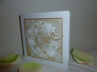 Hochzeit - Glückwunschkarte sehr edel und elegant - Handarbeit kaufen