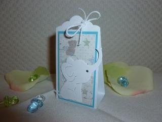 Taufe - Gäste-Goodie - Motiv Elefant passend zur Einladungskarte - Handarbeit kaufen