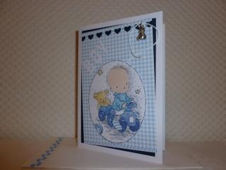 Geburt & Taufe - Glückwunschkarte für einen kleinen Jungen  - Handarbeit kaufen