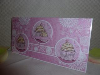 Glückwunschkarte mit Cupcake-Toppern - zum Geburtstag für kleine & große Ladys - Handarbeit kaufen