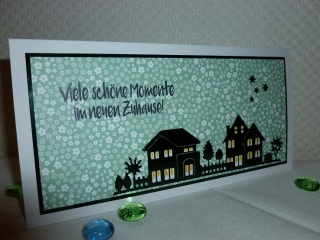 Glückwunschkarte zum neuen Zuhause - Einzug, Umzug usw.