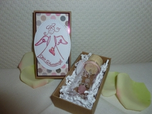 Schutzengel Geschenk-Set - im Glasflacon - in einer Geschenkschachtel