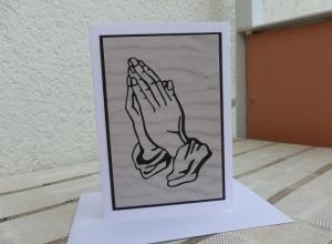 Trauer + Beleid / dezente Beileidskarte - ausdrucksstarkes Motiv  - Handarbeit kaufen