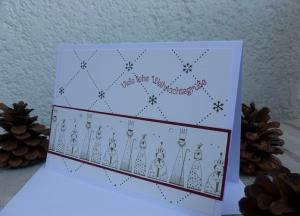 Weihnachten - edle Weihnachtskarte