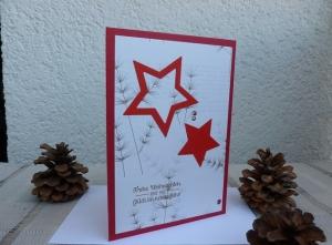 Weihnachten - schöne Weihnachtskarte mit Sternen