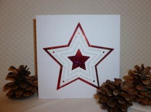 Weihnachten - schöne edle Weihnachtskarte mit großem Stern