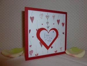 Valentinstag - romantische Glückwunschkarte ... laßt Herzen sprechen ... - Handarbeit kaufen