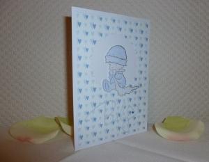 Geburt + Taufe - Glückwunschkarte - Geburt eines kleinen Jungen - Handarbeit kaufen