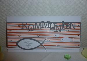 Kommunion - edle Glückwünsche / Gutschein- bzw. Geldgeschenk-Karte - für ein Mädchen - Handarbeit kaufen