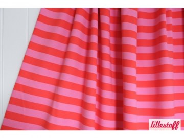 Lillestoff Bio-Sweat Blockstreifen rot/pink