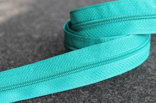 1m Reißverschluss endlos smaragd, 24mm breit