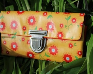 Geldbeutel, Portemonnaie mit Blumenmuster