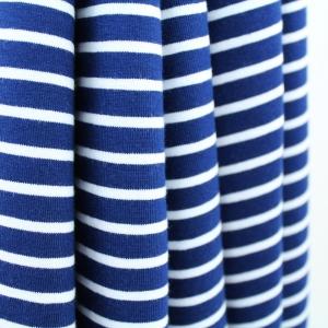 Stoffonkel Biojersey Streifen marineblau
