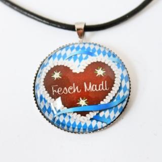 Oktoberfest Fesch Madl Kette Tracht☆ Geschenkidee, Kunst, Glücksbringer, Festzeit,