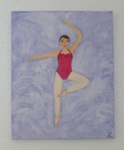 ☀Ballerina Kindergemälde☀ Acrylgemälde, Ballett