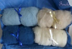 kardierte Schafwolle, Märchenwolle, Filzwolle, Wolle